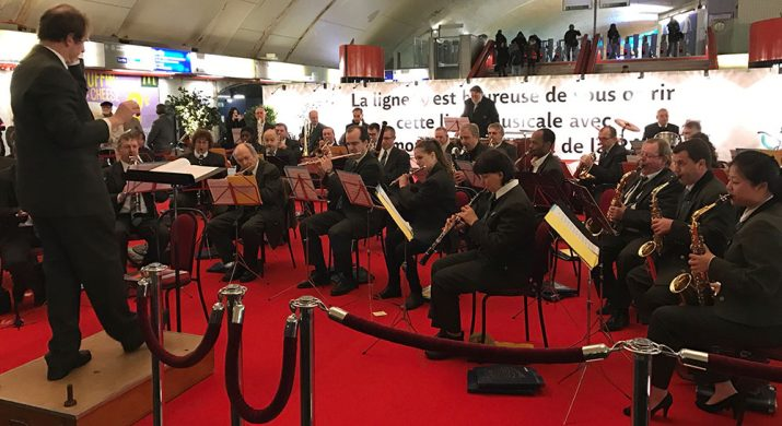 Concert en Gare d'Auber le 6 janvier 2017
