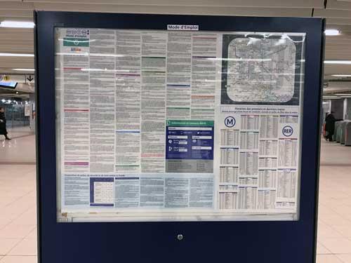 Affiche Mode d'emploi RATP: reglementation dans les transports