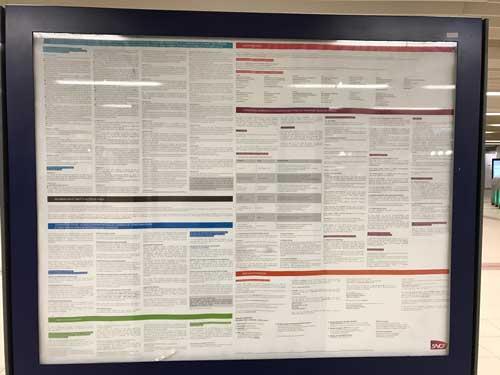 Affiche reglementation SNCF