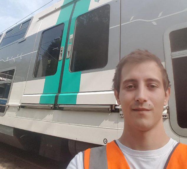 Thomas, agent de conduite Transilien