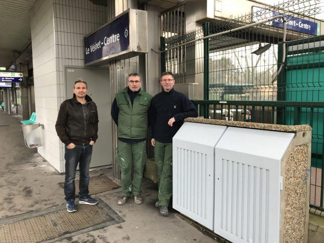 Didier, Jean-Luc et Cyril (de gauche à droite) Deux mois d'intervention entre Rueil et le Vésinet