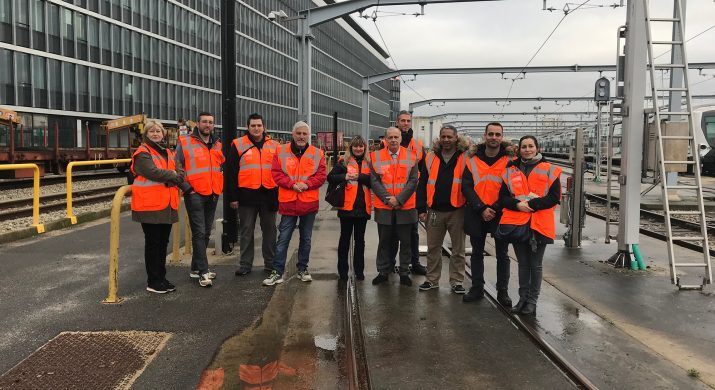 visite du 10 janvier RER A: lieu ou l'on nettoie les trains
