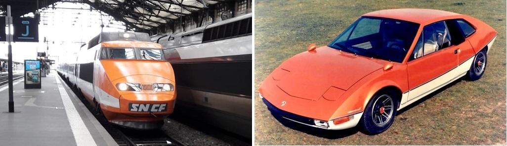 Le TGV001 et la Porsche Murène